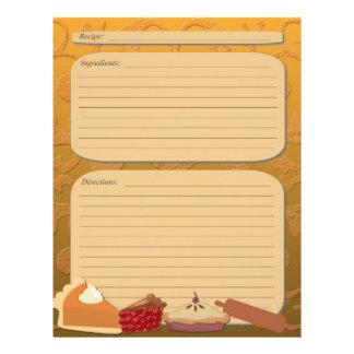 Dessert pie theme orange recipe page 21.5 cm x 28 cm flyer