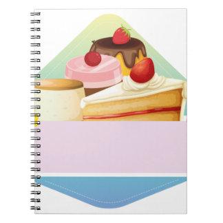 Dessert Spiral Note Books
