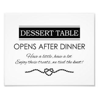 Dessert Table Wedding Reception Print Photo