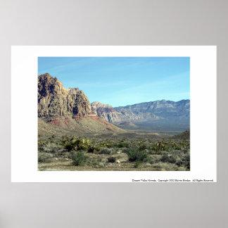 Dessert Valley Nevada Poster
