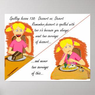 Dessert vs. Desert Posters