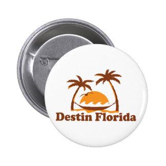 Destin Florida. 6 Cm Round Badge