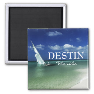 Destin Florida beached sailboat Magnet