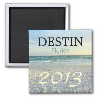 Destin Florida sugar sand beach - CUSTOMIZE YEAR Magnet