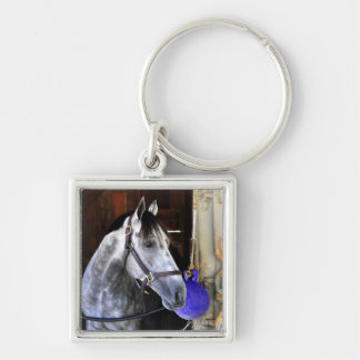 Destin Silver-Colored Square Key Ring