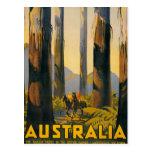 Destination Australia Travel Poster Post Card