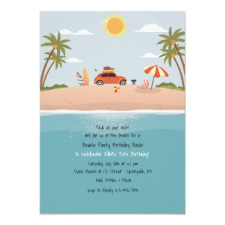 Destination Beach Invitation