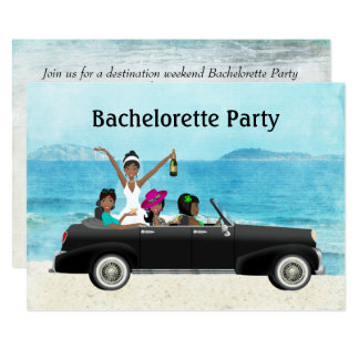 African american bachelorette party invitations for Popular bachelorette party destinations