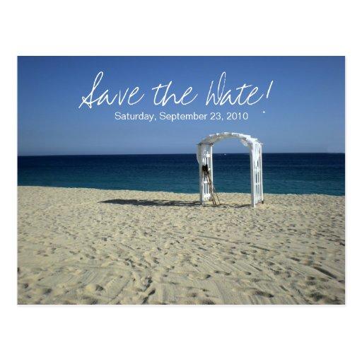 Destination Beach Wedding Save the Date Postcard
