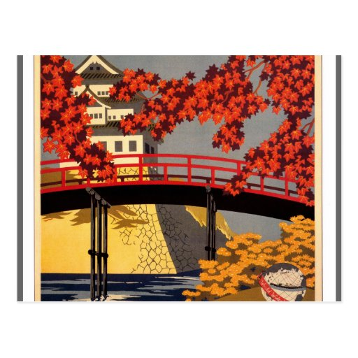Destination: Japan Travel Poster Post Cards