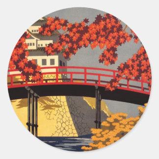 Destination: Japan Travel Poster Stickers