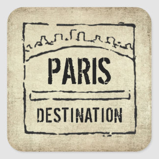 Destination Passport Stamp Sticker