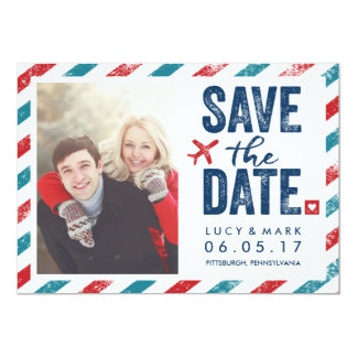 Destination Postal Theme Wedding | Save the Date 13 Cm X 18 Cm Invitation Card