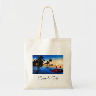 Destination wedding = customize with your own name bag