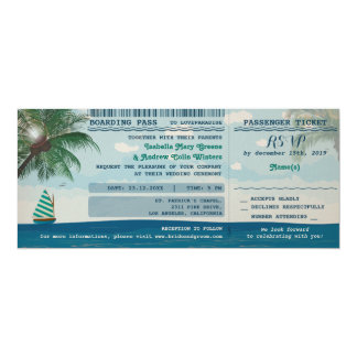 Destination Wedding Invitation and RSVP
