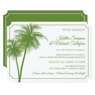 Destination Wedding Invitation (Palms)  Moss Green