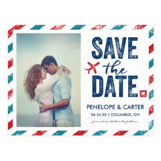 Destination Wedding | Postcard Save the Date