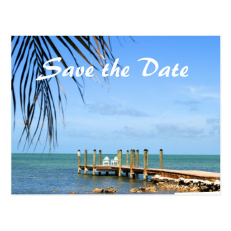 Destination wedding save the date postcard