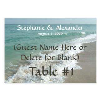 Destination Wedding Table Name Place Cards, Custom Pack Of Chubby Business Cards