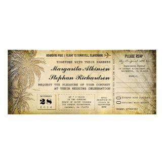 destination wedding tickets with RSVP Announcement