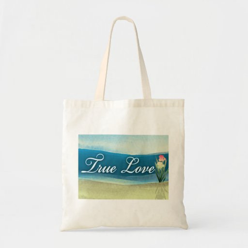 Destination wedding  - true love canvas bag