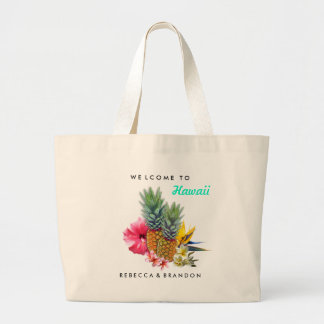 Destination Wedding Welcome Guests to Hawaii Jumbo Tote Bag