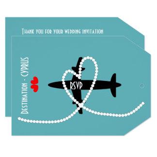 Destination Weddings Abroad Cyprus RSVP Card