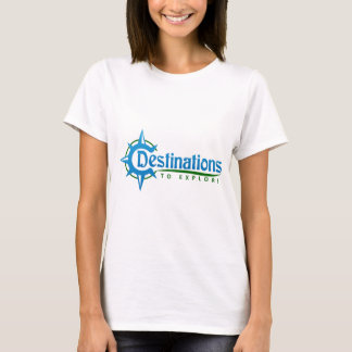 Destinations to Explore Print Logo Merchandise T-Shirt