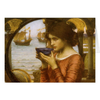 Destiny by JW Waterhouse, Vintage Victorian Art Card