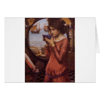 Destiny by JW Waterhouse, Vintage Victorian Card