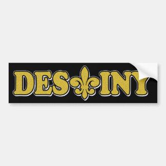 DESTINY GOLD SAND FLEUR BUMPER STICKER