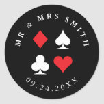 Destiny Las Vegas Casino Themed Custom Text Round Sticker