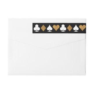 Destiny Las Vegas Glittered Gold and Black Address Wrap Around Label