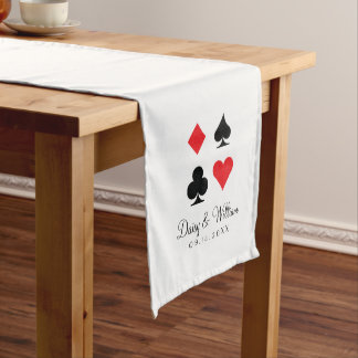 Destiny Las Vegas Red White Reception Table Runner