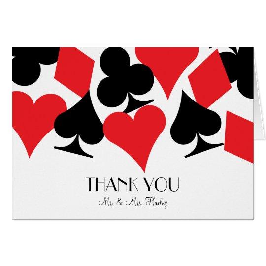 Destiny Las Vegas Wedding Thank You Card in White