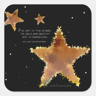 Destiny Stars Square Sticker