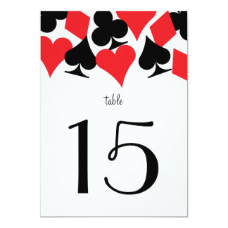 Destiny Vegas Wedding Reception Red Table Number Card