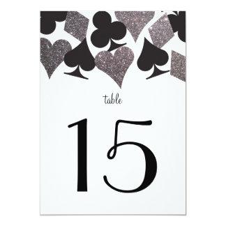 Destiny Vegas Wedding Reception Table Number Card