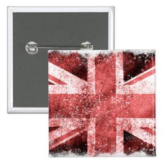 Destressed Union Jack 15 Cm Square Badge