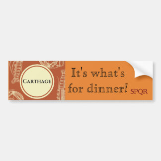 Destroy Carthage Bumper Sticker