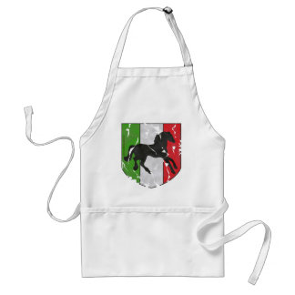 Destroyed Looking Italian Crest With Horse Standard Apron