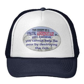 destroying rich trucker hat