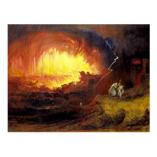 Destruction of Sodom and Gommorah Postcard