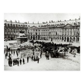 Destruction of the Vendome Column Postcard