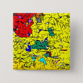 Detail abstract 15 cm square badge