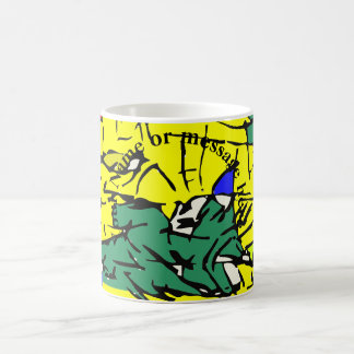 Detail abstract coffee mug