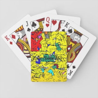 Detail abstract playing cards