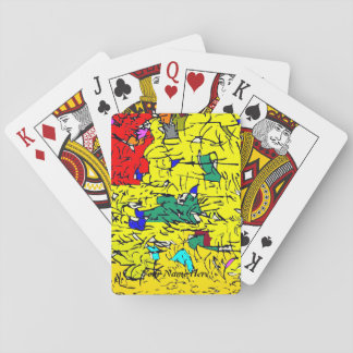 Detail abstract poker deck