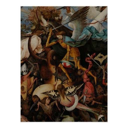 Detail: Fall of the Rebel Angels by Pieter Bruegel Posters