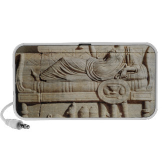 Detail from a sarcophagus portable speaker